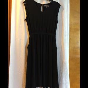 Danny & Nicole Black Dress with pockets 20W